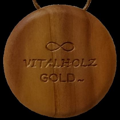 Amulett AUM Symbol Apfel Ahorn Hinten