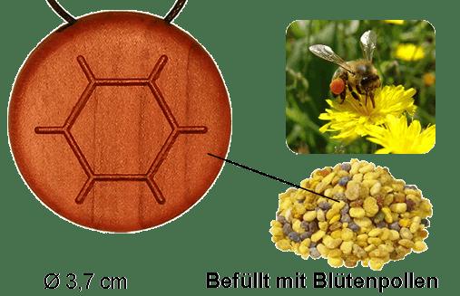 Amulett Bee Poll mit Blütenpollen