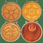 Amulett Holz befüllt