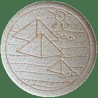 Vitalknopf Cheops Symbol Ahorn
