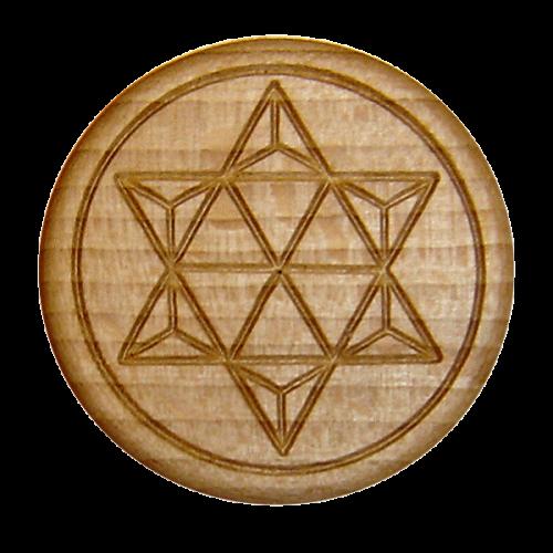 Vitalknopf Germanium Buche Symbol