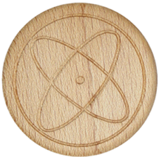 Vitalknopf Kosmos Symbol Buche