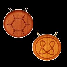 Amulett Holz Blütenpollen/Hollunder