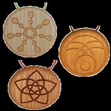 Amulett Holz Kräuter