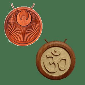 Amulett mit Quarz-Salz-Blattgold Vorschaubild