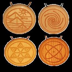 Amulett Holz Quarz