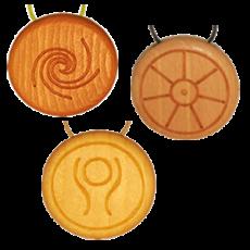 Amulett Holz Steinsalz