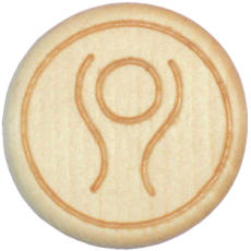 Vitalknopf Deep Breath Symbol