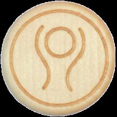 Vitalknopf Deep Breath Symbol