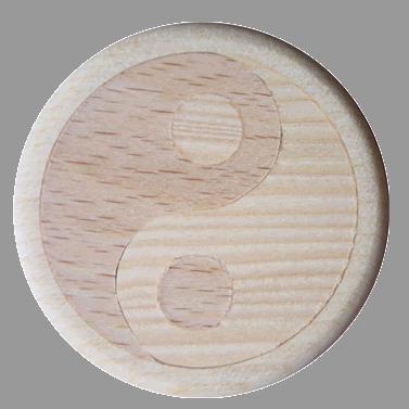 Vitalknopf Yin & Yang Symbol