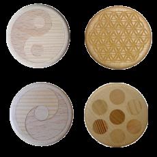 Vitalknopf Holz Quarz/Salz