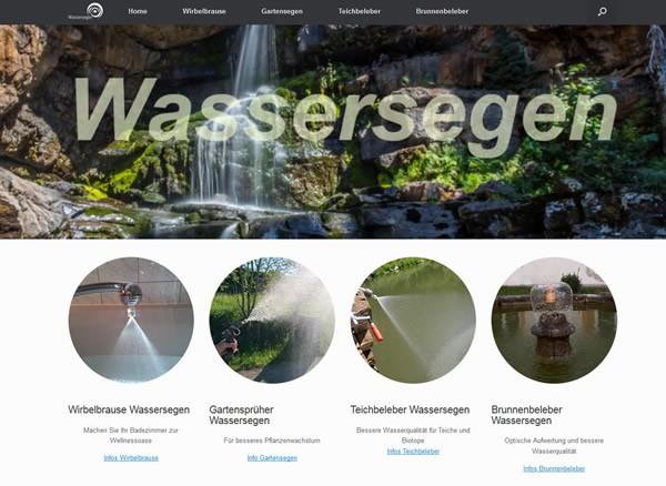 Wassersegen Homepage