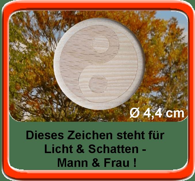 Yin und Yang Holz