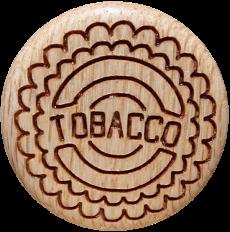 Vitalknopf Tabacco Symbol