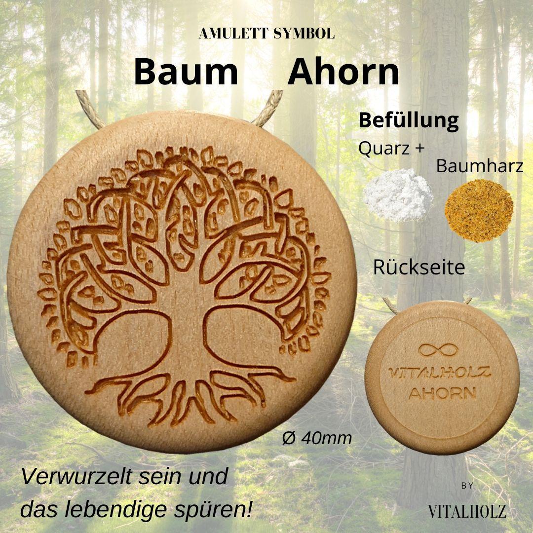Amulatt Symbol Baum Ahorn