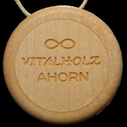Amulett Holz Baum Ahorn hinten